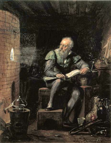 Palissy in his Workshop, c.1832 (w/c & bodycolour on paper)