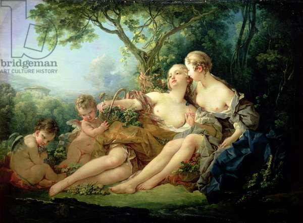 Bacchus and Erigone (Erigone vaincue), 1745 (oil on canvas)