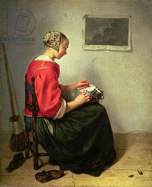 The Lace Maker, 1662 (oil on canvas)