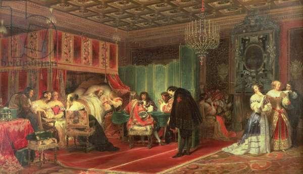 Cardinal Mazarin's Last Sickness, 1830 (oil on canvas)