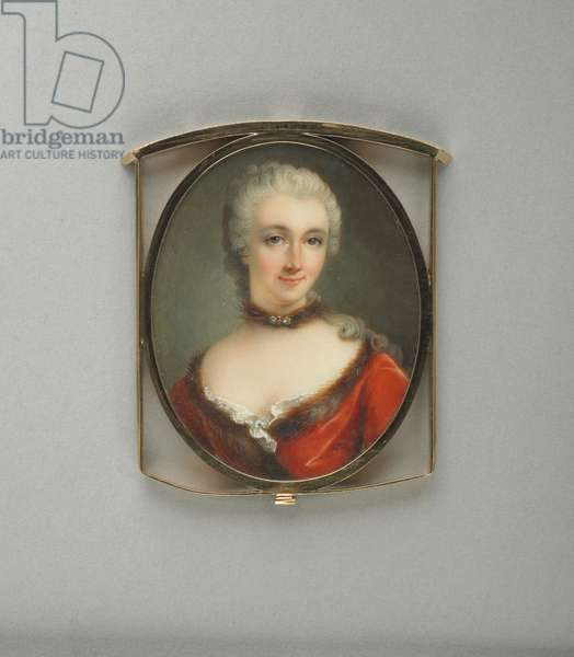 Miniature of Madame du Chatelet, c.1775 (w/c on paper)