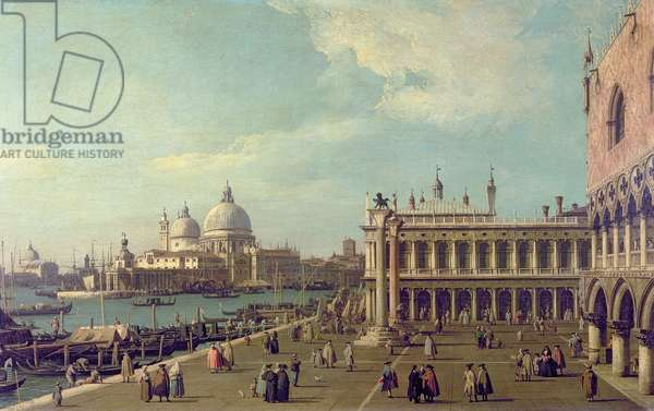 Venice: The Molo with Santa Maria della Salute, c.1740-45 (oil on canvas)