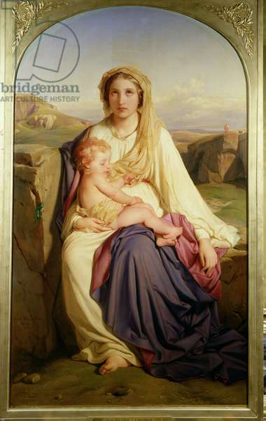 The Virgin and Child, 1844 (oil on canvas)