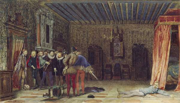 The Assassination of the Duc de Guise, 1832 (w/c & bodycolour with some gum varnish on paper)
