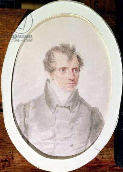 James Fenimore Cooper (1789-1851) (w/c on paper)