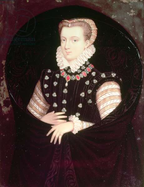 Mary, Queen of Scots (enamel on ivory)