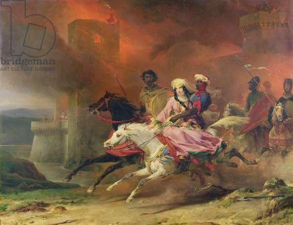 Rebecca and Brian de Bois-Guilbert, 1828 (oil on canvas)
