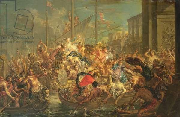 The Rape of Helen, c.1740-60 (oil on copper)