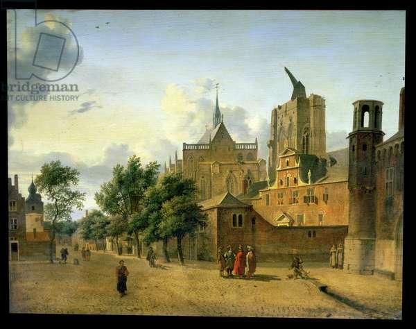 A Street Scene in Cologne c.1684 (oil on oak panel)
