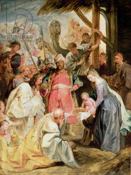 The Adoration of the Magi, c.1624 (oil on oak panel)