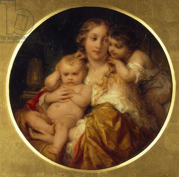 Mother and Children, c.1843-48 (oil on mahogany panel)