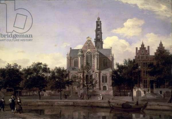 View of the Westerkerk, Amsterdam, c.1668-1672 (oil on oak panel)
