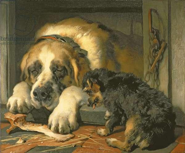 Doubtful Crumbs, 1858-59 (oil on canvas)
