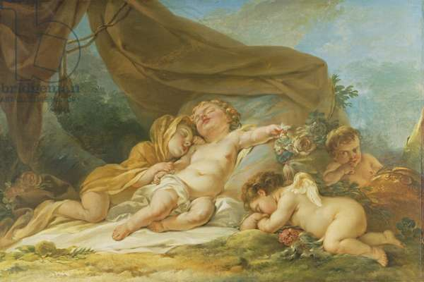 Sleeping Child, 1781 (oil on canvas)