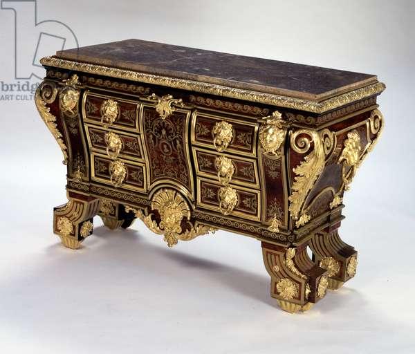 Chest-of-drawers, c.1695 (Oak, première-partie Boulle marquetry of brass & turtleshell, walnut, gilt bronze, lumachella marble, pine, brass & steel)