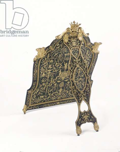 Toilet mirror, 1713 (oak, ebony, première-partie Boulle marquetry of brass and turtleshell, gilt bronze, brass feet, glass)