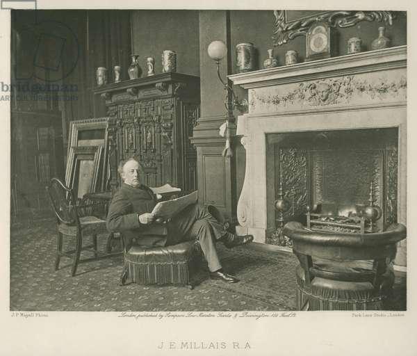 John Everett Millais (b/w photo)