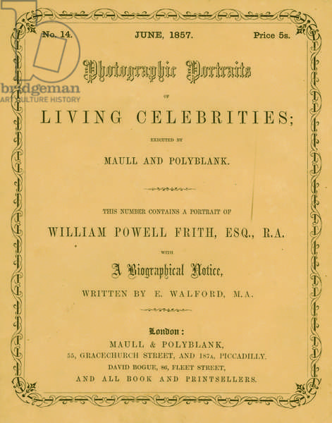 Frontispiece of 'Photographic Portraits of Living Celebrities', by Maull & Polyblank, London, June 1857 (litho)