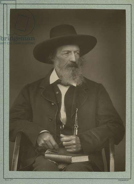 Alfred Tennyson (b/w photo)