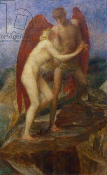 Study for 'Love and Life', 1880s (oil on canvas)