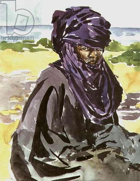Tuareg Tribesman, 1991 (w/c on paper)