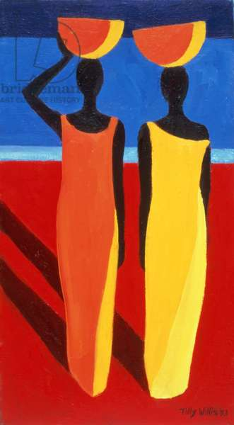 Sisters, 1993 (oil on canvas)