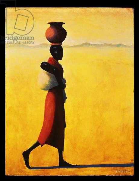 Woman Walking, 1990 (oil on canvas)