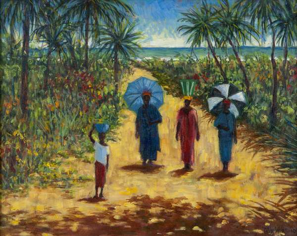 Noon Stroll,2010 (oil on canvas)