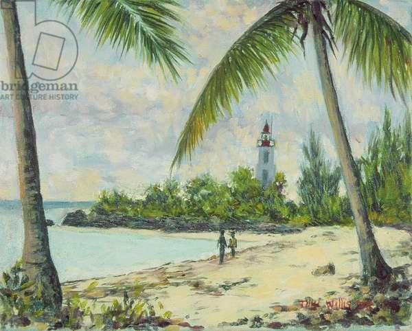 The Lighthouse, Zanzibar, 1995 (oil on canvas)