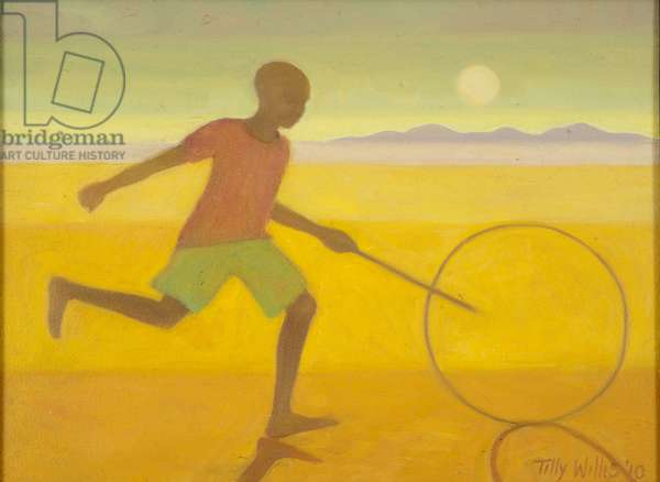 Running Boy,2010 (oil on canvas)