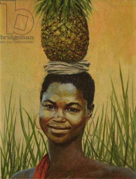 Pineapple Girl, 2004 (oil on canvas)
