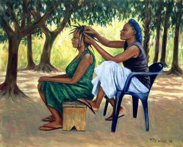 The Hairdresser, 2001 (oil on canvas)