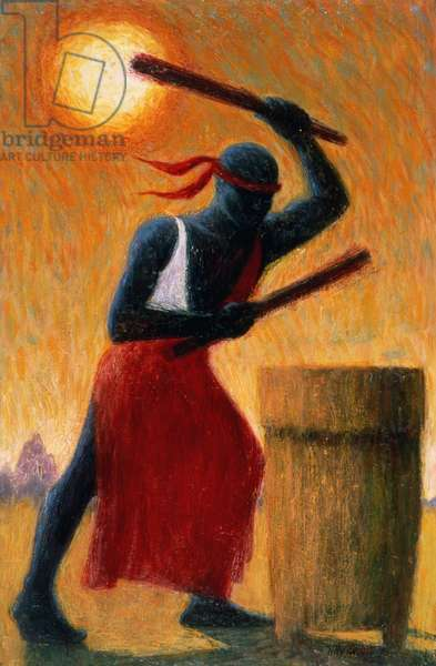 The Drummer, 1993 (oil on canvas)