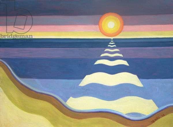 Evening Sun, 2003 (oil on canvas)