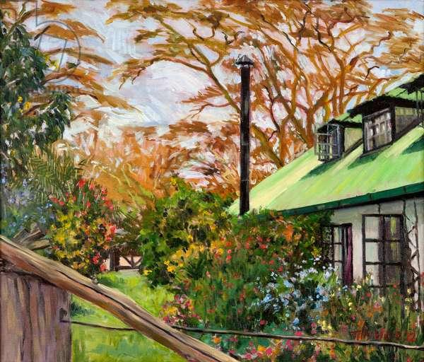 Kenyan Garden, 2012 (oil on canvas)