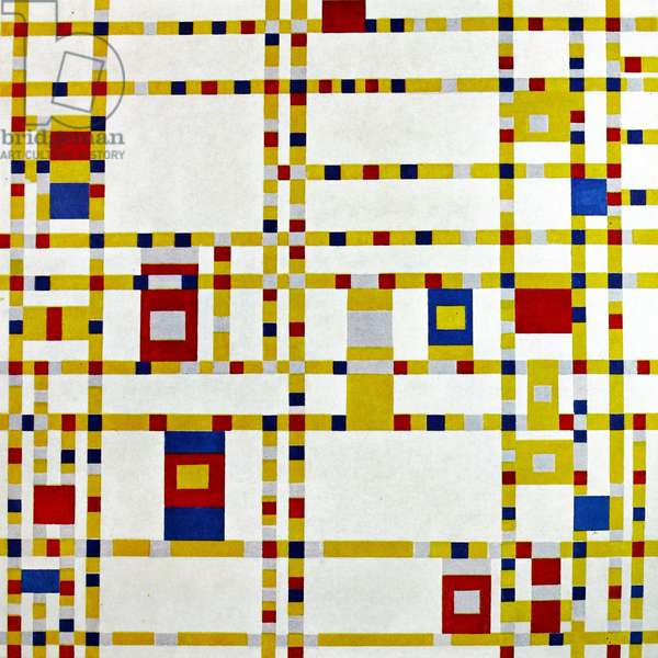 Painting by the famous Dutch artist Piet Mondrian (7th March 1872 - 1st February 1944), work titled 'Broadway boogie-woogie'. Painted in 1942. *** Local Caption *** 00837202