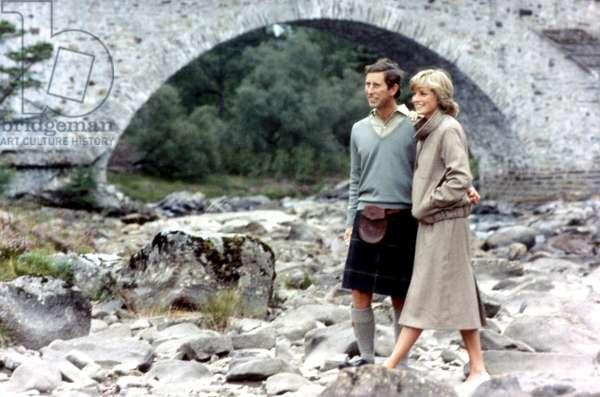 The Royal honeymoon - Charles & Di - Prince Charles and Diana Princess of Wales *** Local Caption *** 01146366
