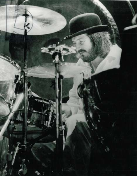 John Bonham on drums with Led Zeppelin