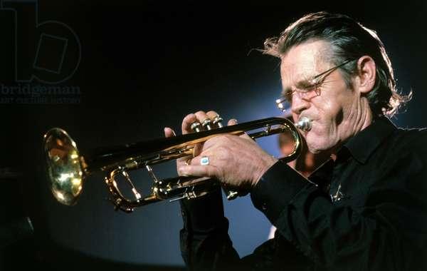 Jazz trumpeter CHET BAKER, 1989