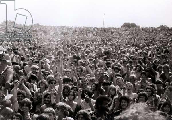 Woodstock Festival, August 1969 (b/w photo)
