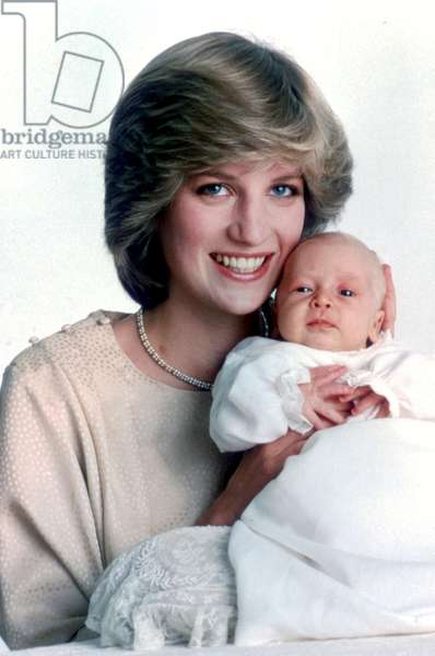 Diana Princess of Wales with her baby Prince William