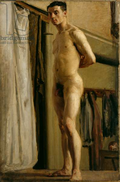 Male Figure Standing, 1909 (oil on canvas)