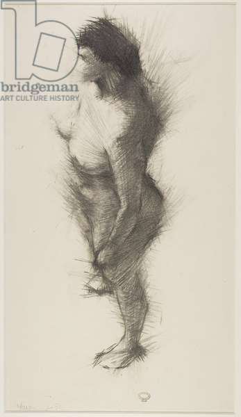 A Study of a Female Figure, 1952 (chalk on paper)