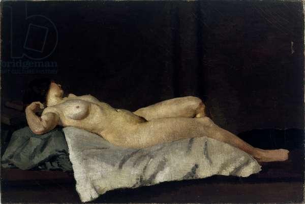 Female Figure Lying on Her Back, c.1912 (oil on canvas) [LDUCS-5204]