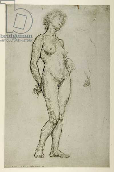 Study of a Female Figure, 1898 (chalk on paper)
