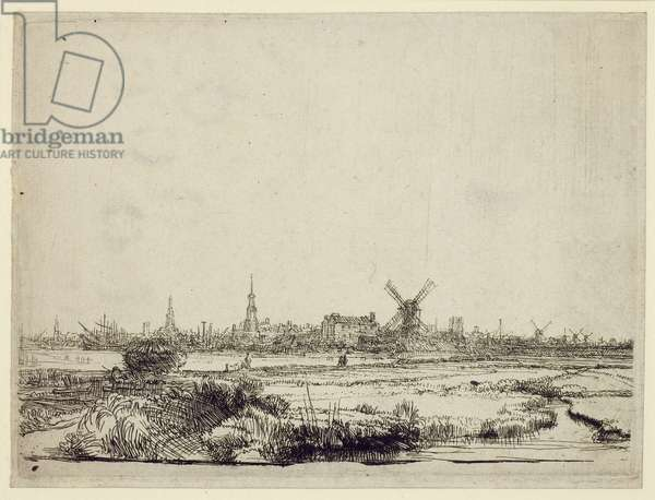 View of Amsterdam, c.1640 (etching)