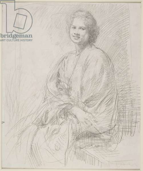 Portrait of Ida Nettleship (pencil on paper)