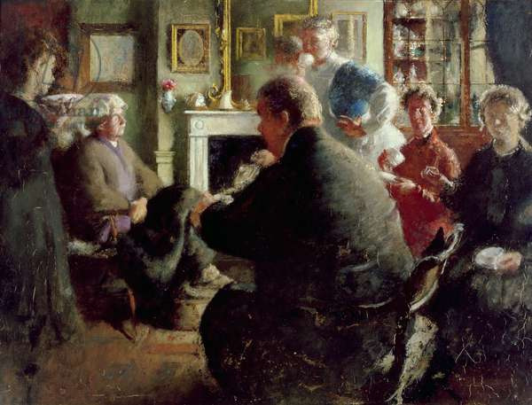 Steer at Home, 109 Cheyne Walk (on Christmas Eve) c.1929-30 (oil on panel)