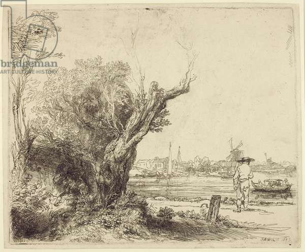 The Omval, 1645 (etching & drypoint on paper)