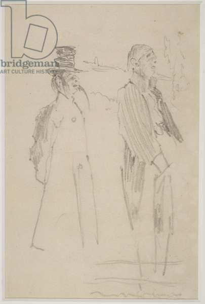 Two Vaudeville Gentlemen, c.1888 (pencil on paper)